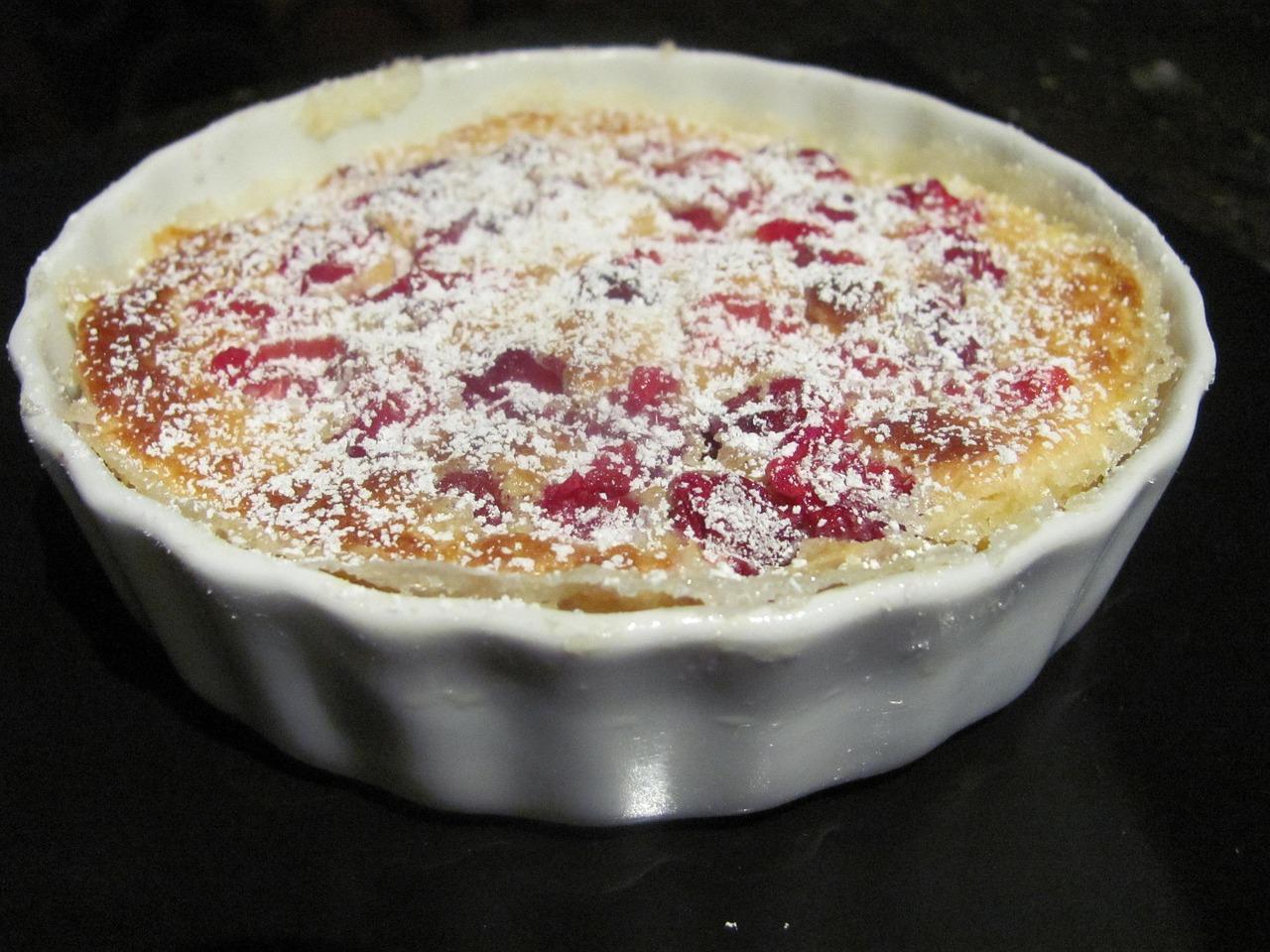 Clafoutis, recept, taart, dessert, Frankrijk, toetje